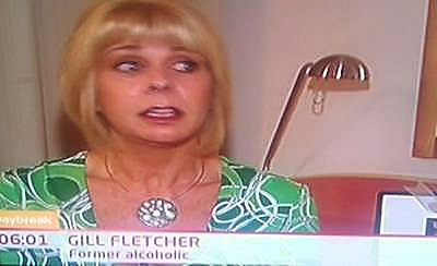 Gill Fletcher, a former alcoholic on ITV Daybreak