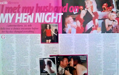Catherine Kurn story in Daily Mirror and Bella magazine