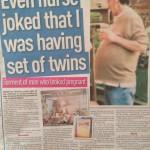 Ian Gourlay, pregnant man