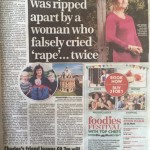 False rape claim story