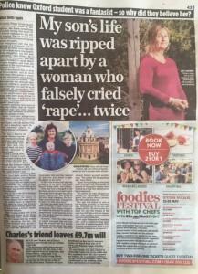 False rape claim story