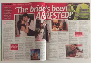 Take a Break real life - arrested on wedding day