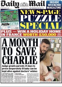 Great Ormond St, Charlie Gard story