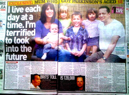 Story about young mum with Parkinsons disease