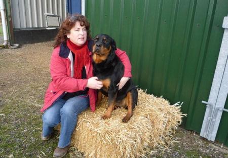 Trudi and pet dog Gracey