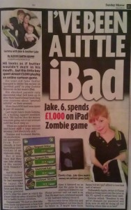 Jake Sadler iBad child