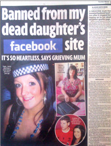 Facebook 'heartless' to deny me access to my dead daughter's profile
