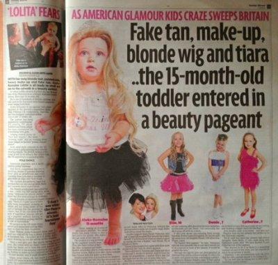 Child Beauty Pageant Sunday Mirror
