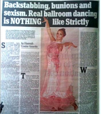 Dancing Story in Newspaper