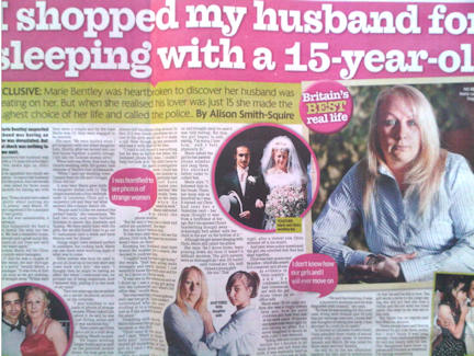 Divorce story sold to press