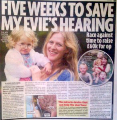 Evie Small - Help to save Evie's hearing