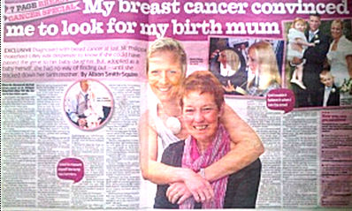 Woman finds real mother