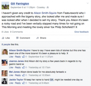 Testimonial Gill Farrington