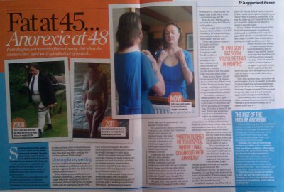 Fat at 45, anorexic at 48... story in Woman mag