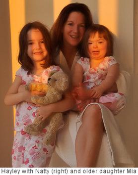 Hayley Goleniowski with down syndrome daughter Natalia