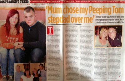 Bethany Buckle - Mum chose my peeping Tom stepdad over me