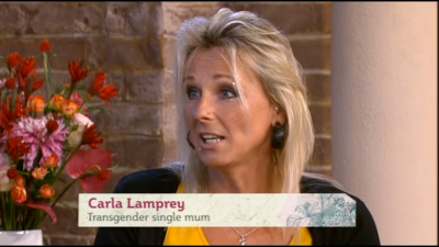 Transgender mum Carla Lamprey