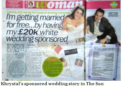 sponsored wedding