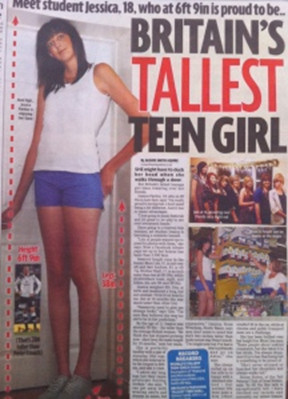 Woman in uk tallest A British