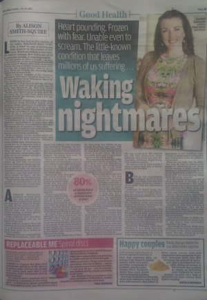 Sell Daily Mail story   Sleep disorders