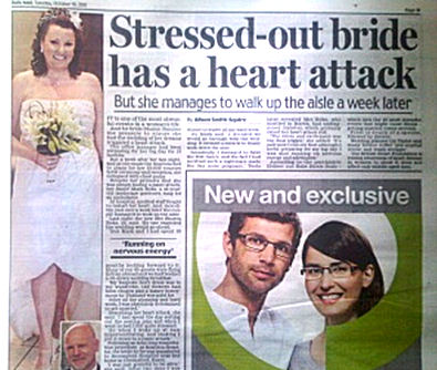 Sharon Boks - had a heart attack just days before her wedding