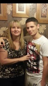 Daniel Broadhead and mum Karen