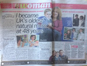 Britain's oldest natural first time mum