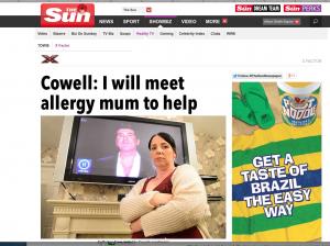 phobia of Simon Cowell.