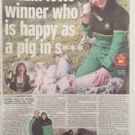 Lottery winner Sue Herdman becomes big farmer, Mirror story