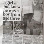 Transgender child story, Daily Mail