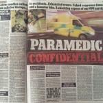 Paramedic story, Mail On Sunday