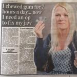 Dangers of chewing gum