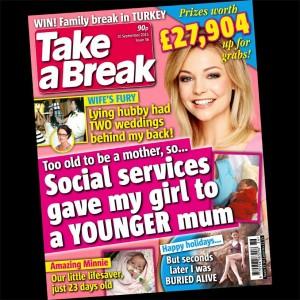 Lying husband story, Take a Break