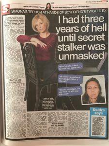 Stalker story in The Sun