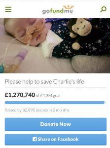 Charlie Gard fund raising