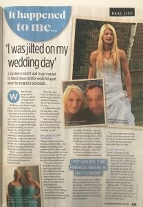 Jilted on wedding day