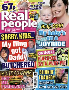 real life story in Real People mag