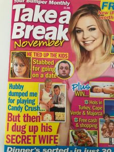 Lesley Thorpe Take a Break mag