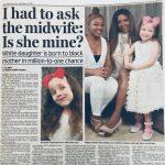 Black mum, white daughter daily mail