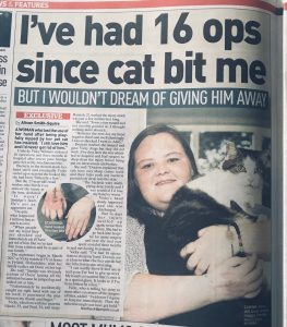 Cat bite left me disabled